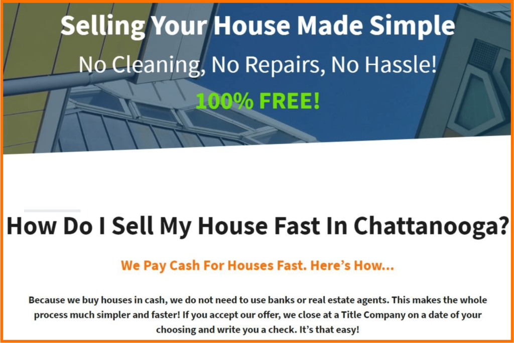 Sell Your Fort Oglethorpe GA House Fast For Cash
