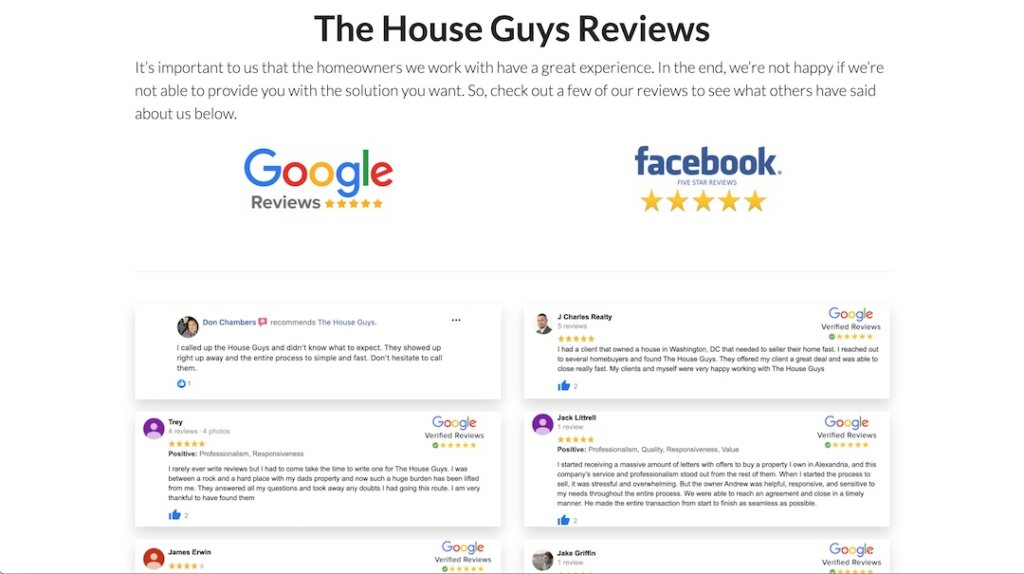 The House Guys Reviews