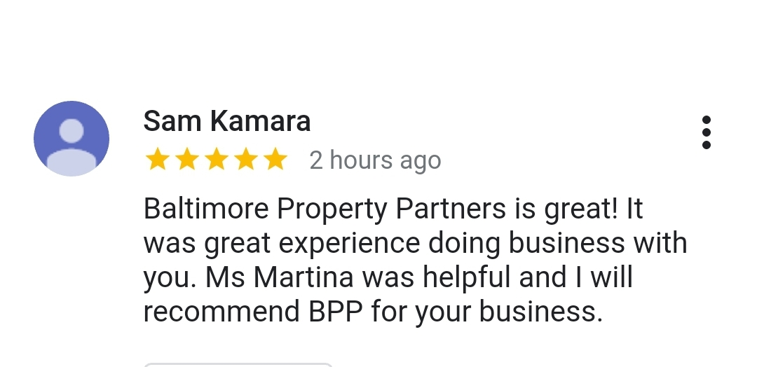 customer service with baltimore property partners