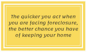 act quickly in foreclosure