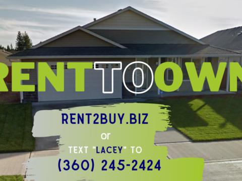 Rent to Own 7307 33rd Way NE Lacey WA