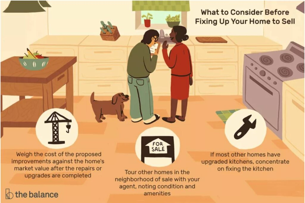 things to consider before when fixing up your home before selling