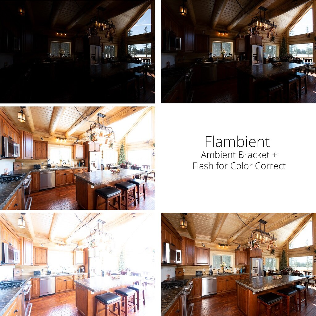 difference between a raw shot and a flambient shot