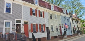 Burlington City rowhomes in Burlington County, NJ