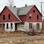 an abandoned house in Detroit Michigan
