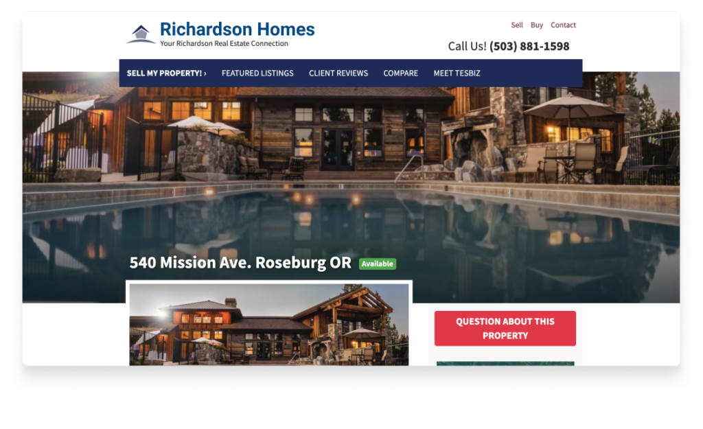 featured property pages