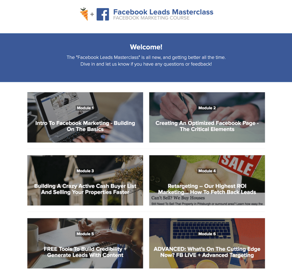 facebook leads masterclass