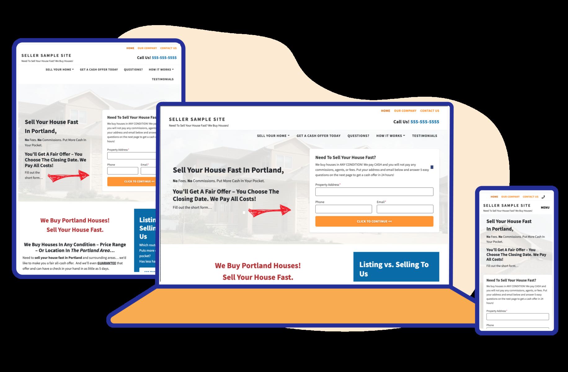 Carrot motivated seller websites