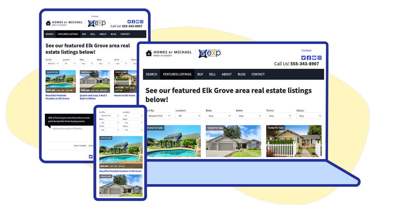 property listing pages