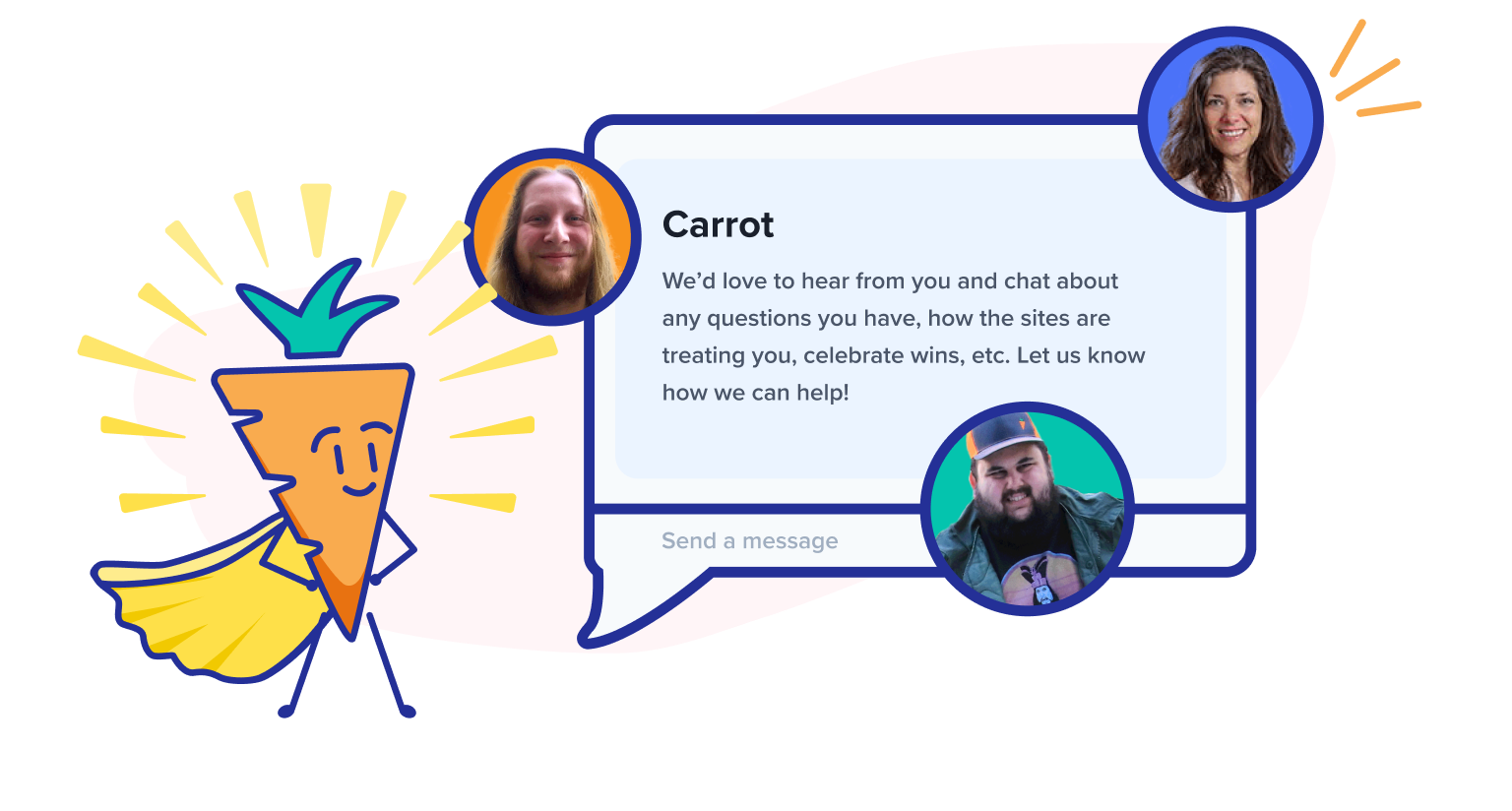 support chat and hero carrot bud