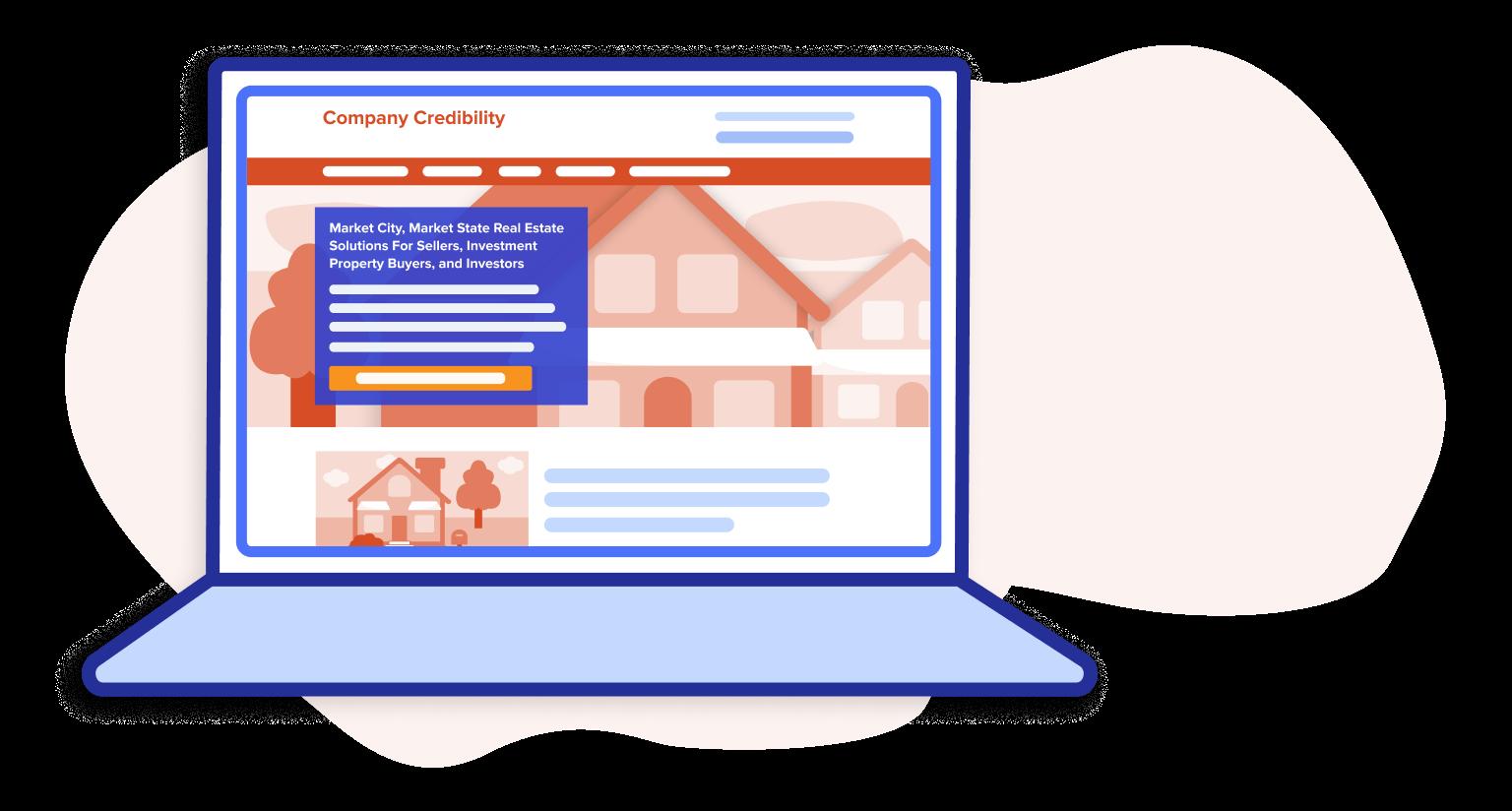 company credibility website desktop
