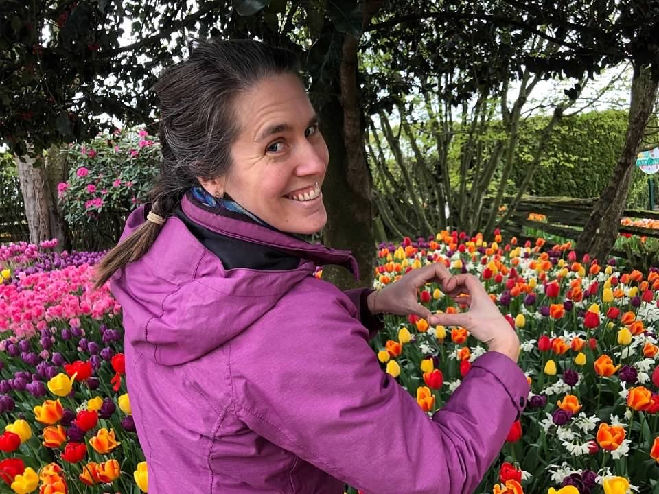 Emily Cressey loves the tulips at the Skagit Valley Tulip Festival.