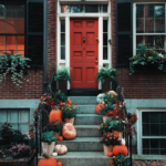 red front door makes house look ready to sell