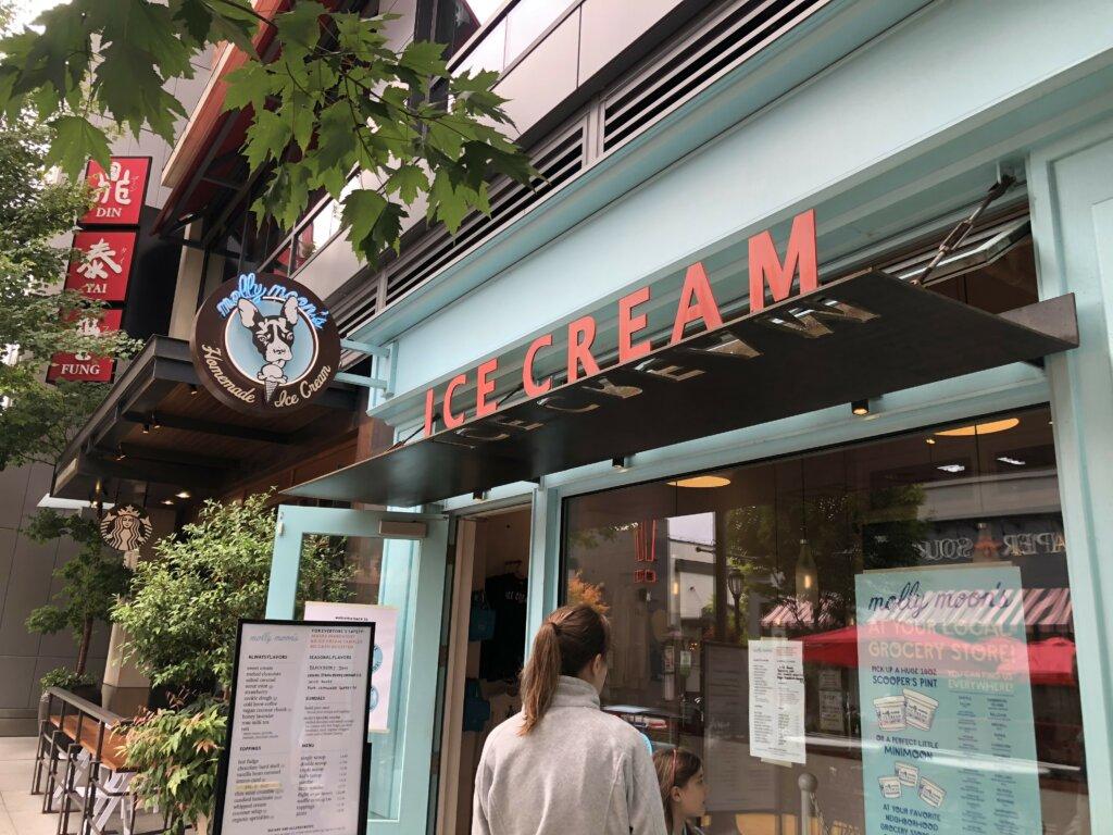 Getting Ice Cream At University Village Shopping Center