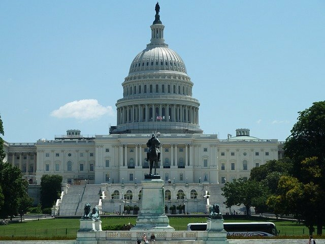 United States Capitol Building on a Sunny Day