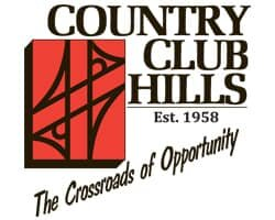We buy houses Country Club Hills city logo Est 1958