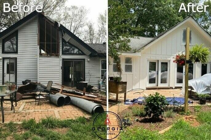 We buy houses Atlanta cash before and after