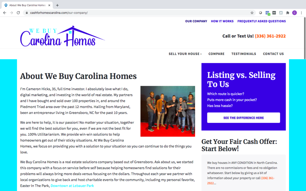 learn-more-about-our-company-we-buy-carolia-homes-greensboro-nc reviews