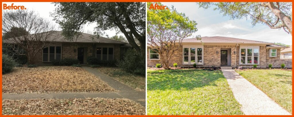 Before And After Picture of House In Garland