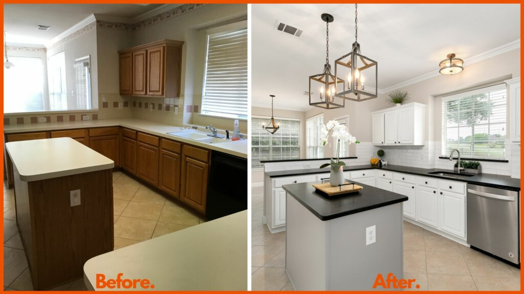 Lewisville Kitchen Before and After