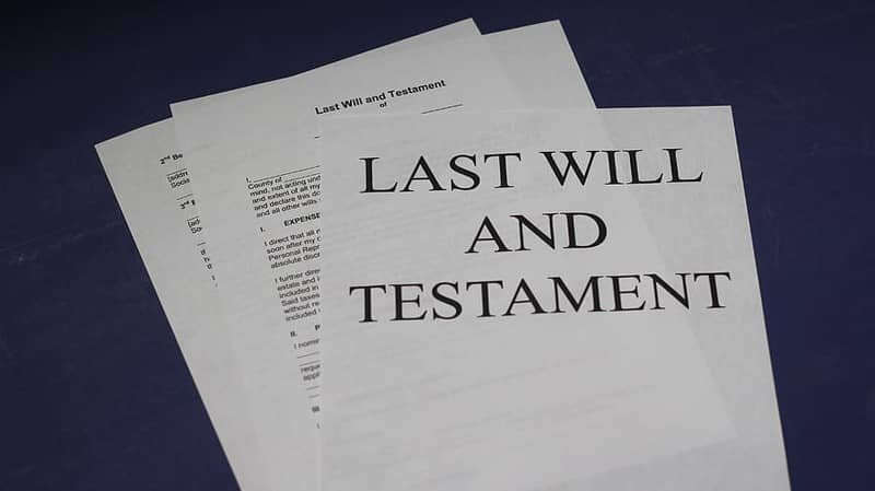 A Photo of Last Will and Testament