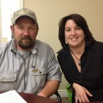 E and R Sandvik at the closing from purchasing their home.