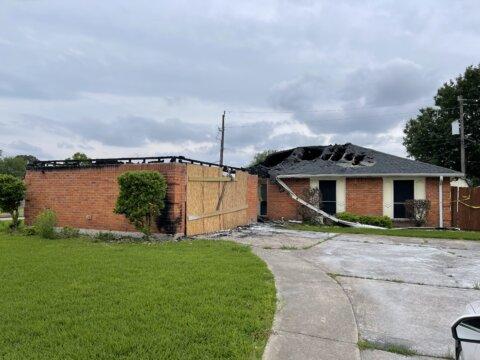 Fire Damage House in La Porte, Texas