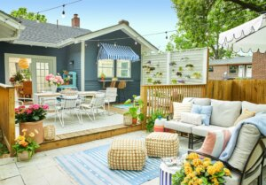 Highlight the yard during open house