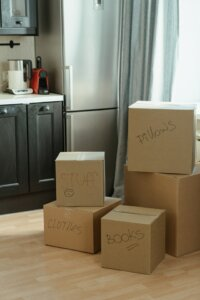 Label moving boxes that you need to open first
