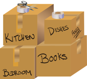 Organizing things when downsizing and moving