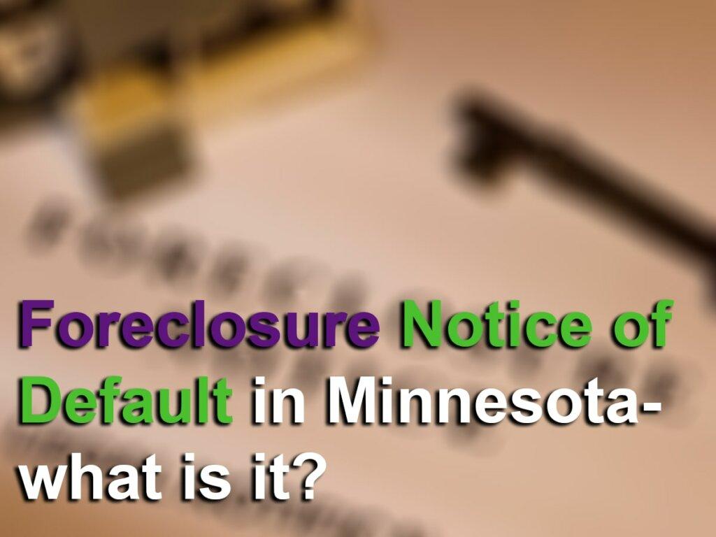 Foreclosure notice of default image