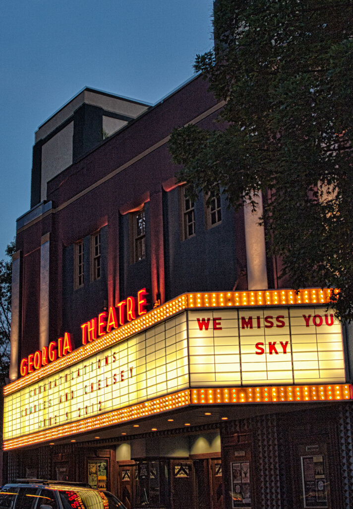 The Georgia theater in Athens Ga. Would you like to know more about Athens Ga? Call George Kassaev 706-426-1082