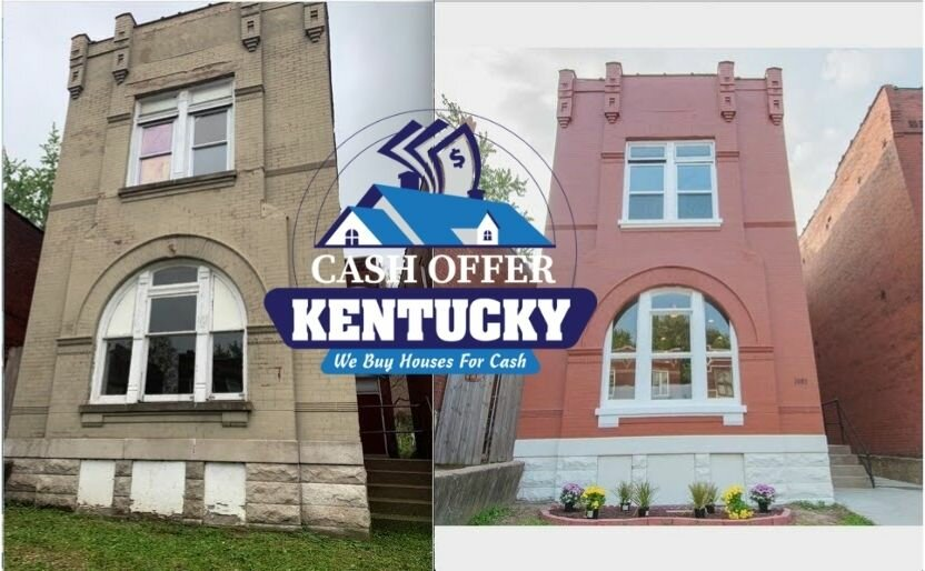 Home Cash Offer Louisville KY Before and After.