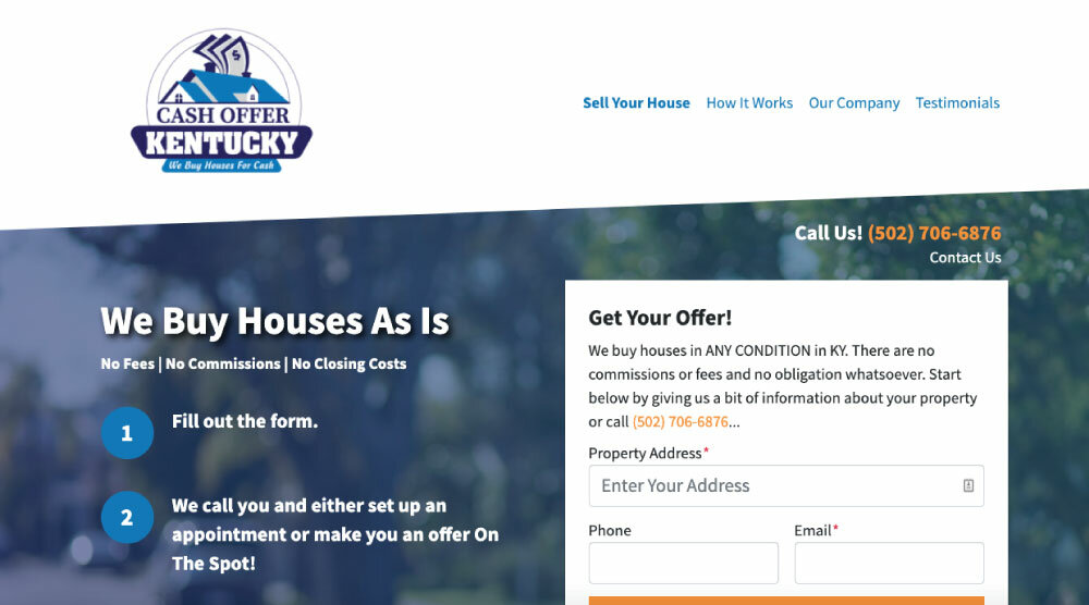 Get Your All Cash offer for House in Louisville KY