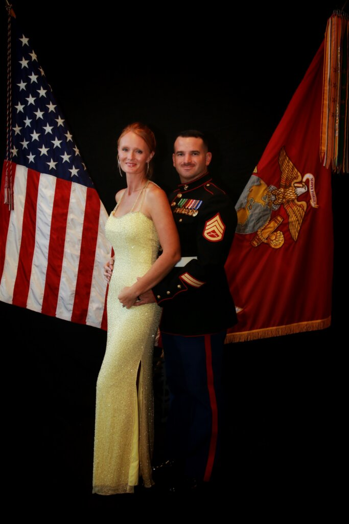 David and Kimberly at the Marine Corps Ball in 2018!