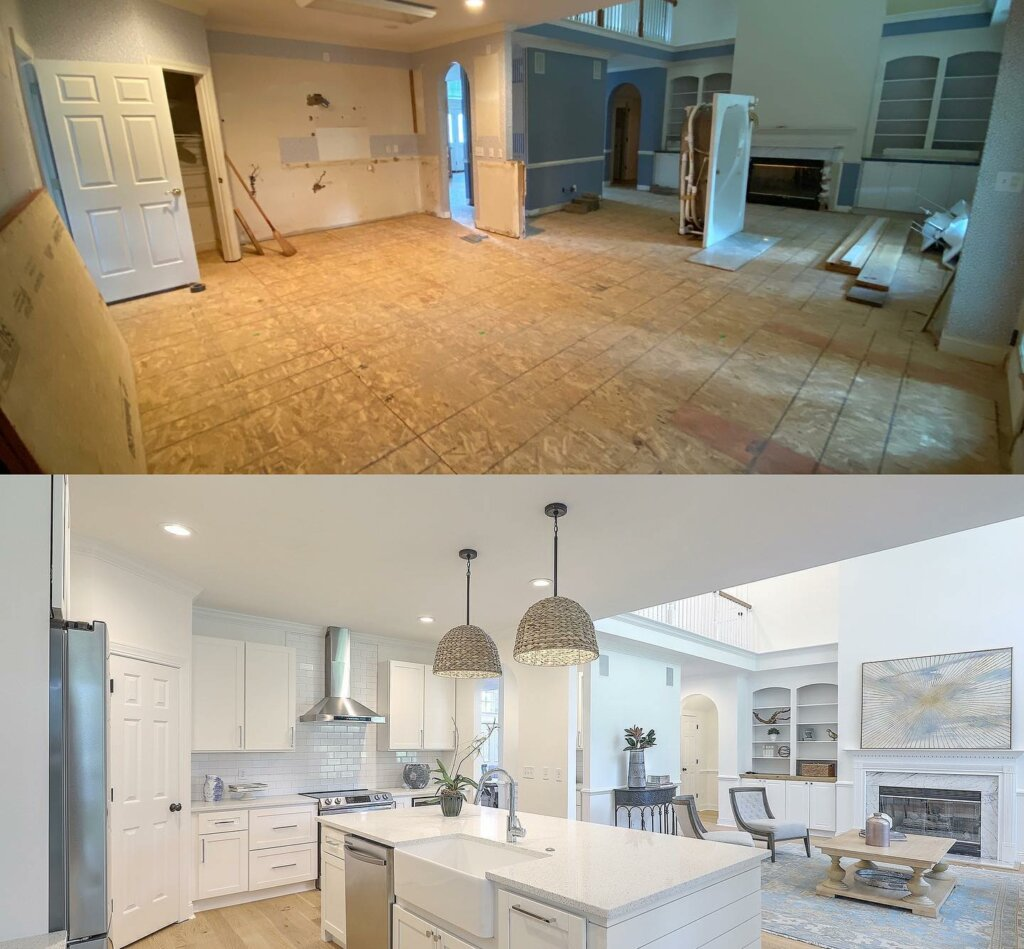 Result image of home before and after renovation