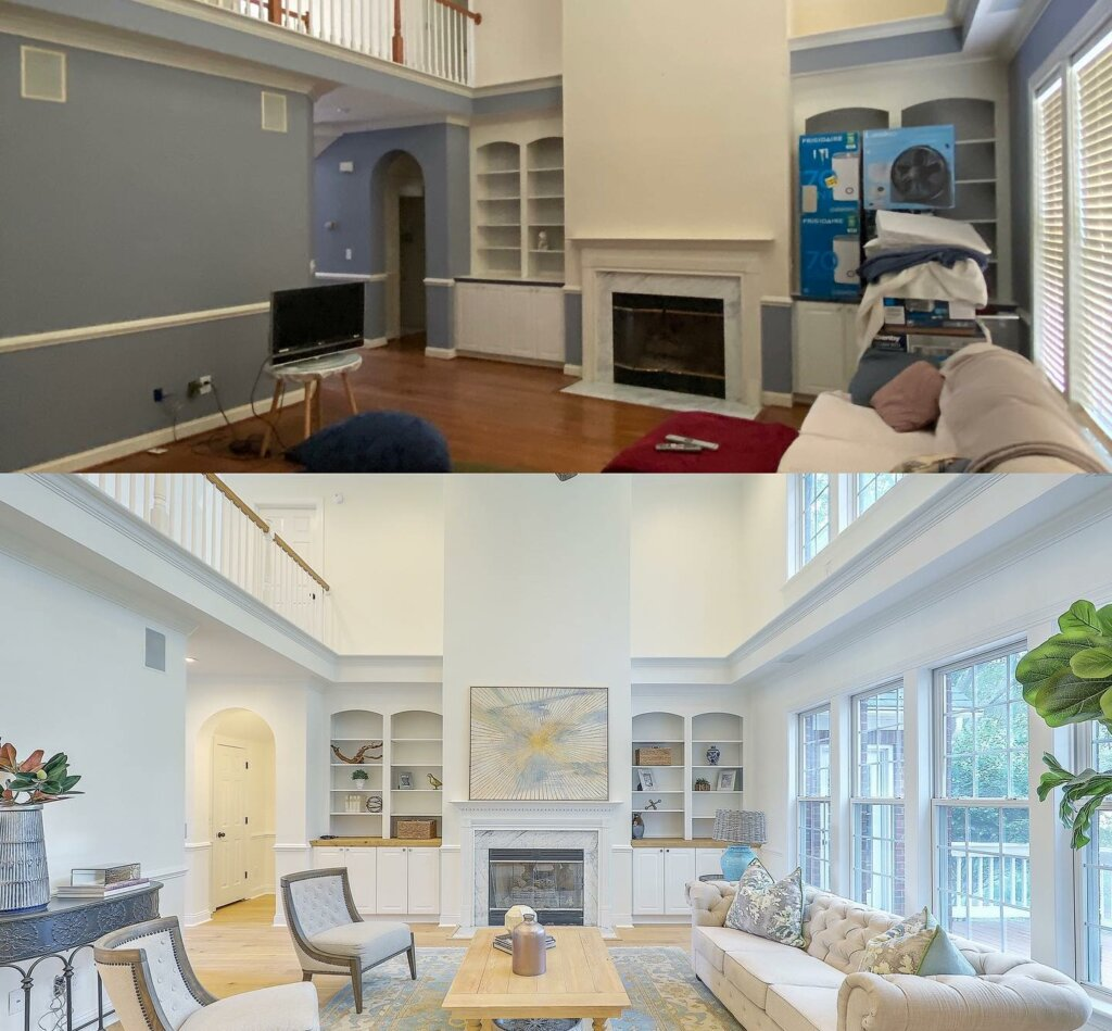 Image of Home before and after renovation