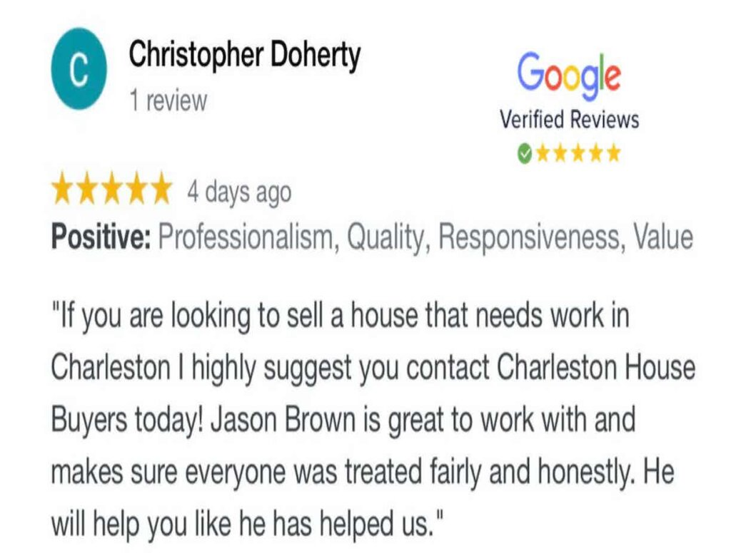 Charleston House Buyers 5 Star Review