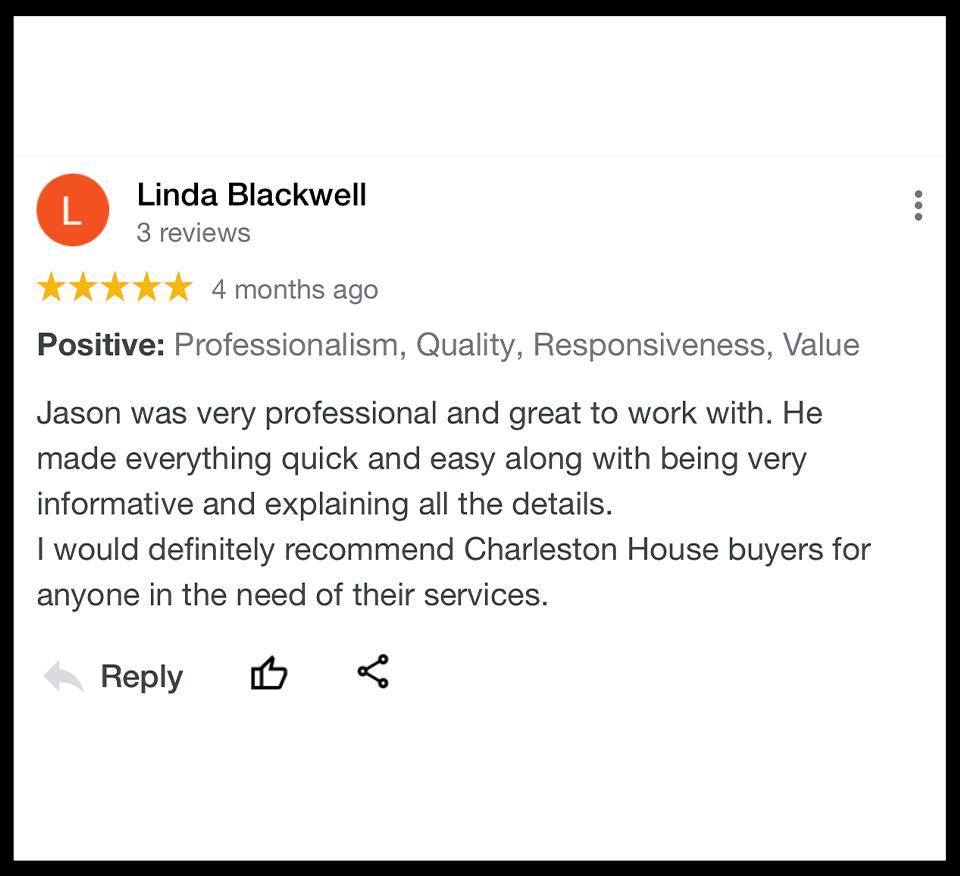 5 Star Review Charleston House Buyers