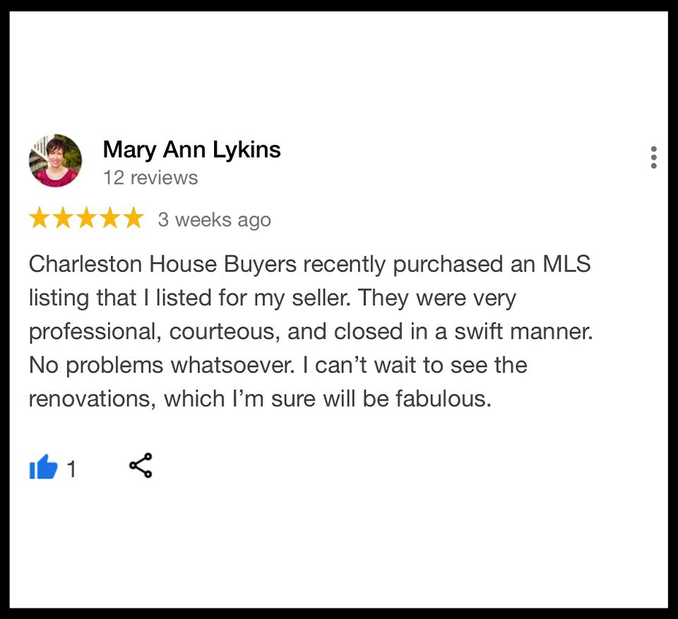 Best Reviewed House Buyer Charleston SC