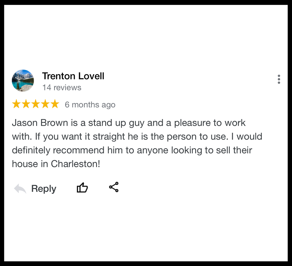 Highly Reviewed Home Buyer Charleston SC