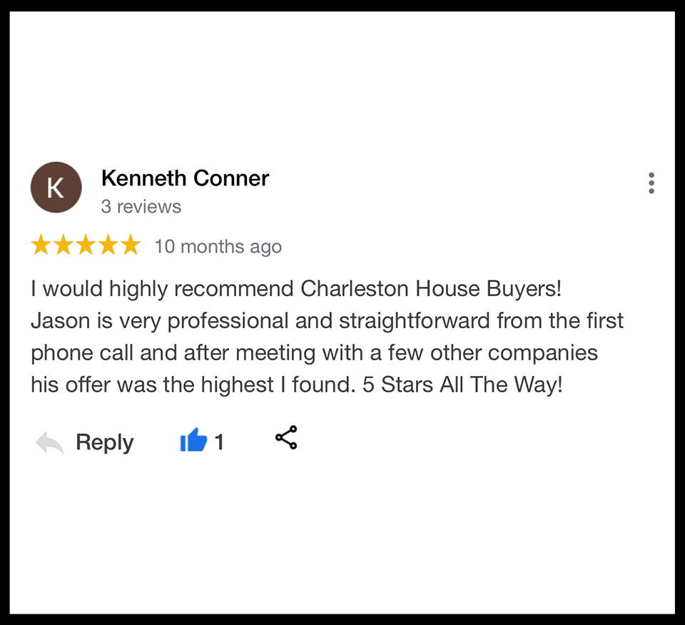 We buy houses North Charleston SC. Highly Reviewed House Buyers.
