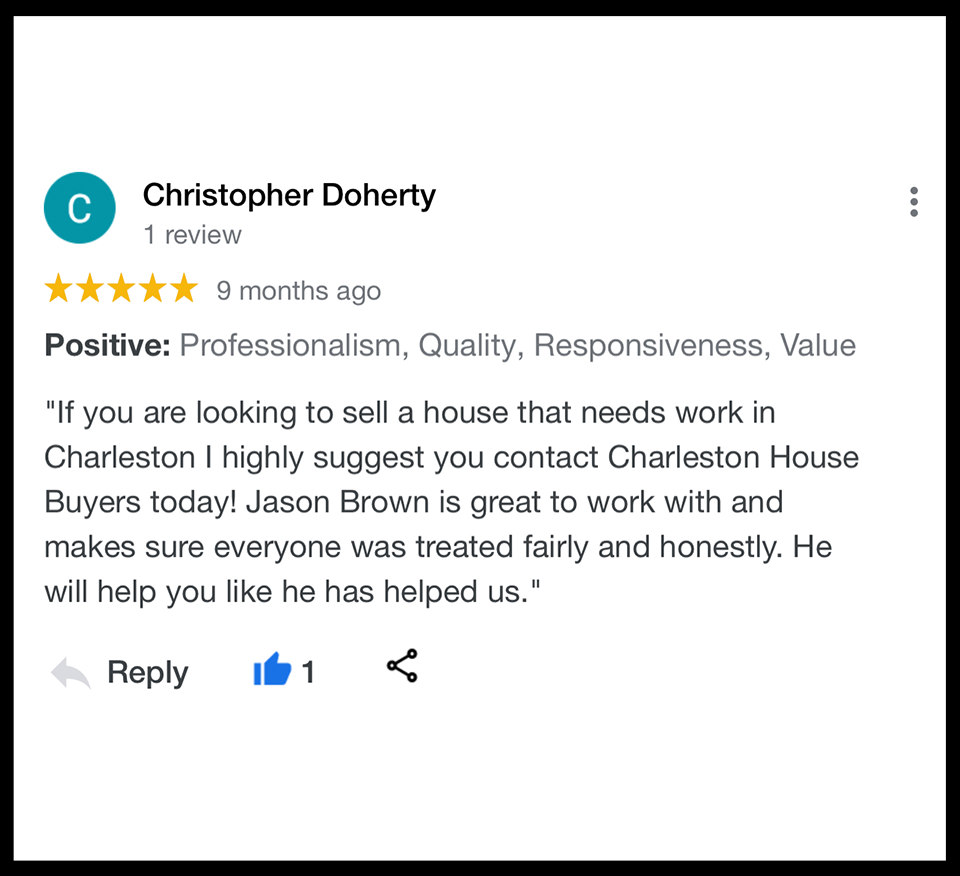We buy houses Goose Creek SC. Highly Reviewed House Buyers.
