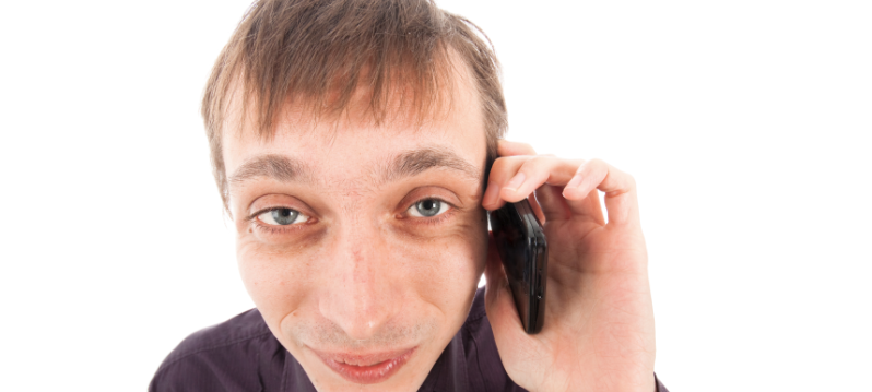 Man on a mobile phone call