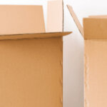 two open boxes symbolizing moving