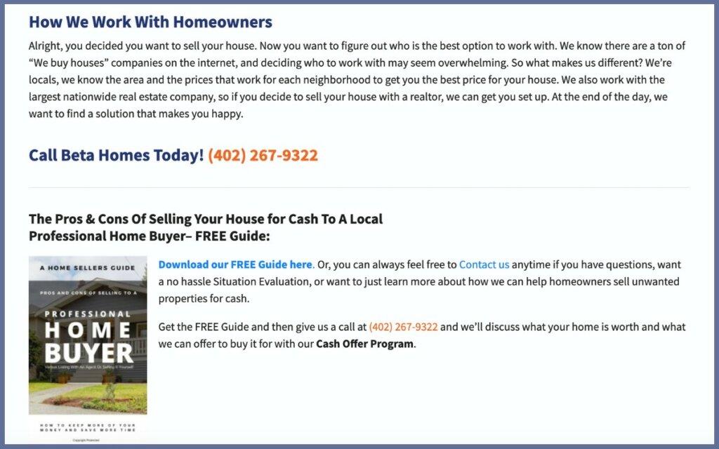 We buy houses in nebraska