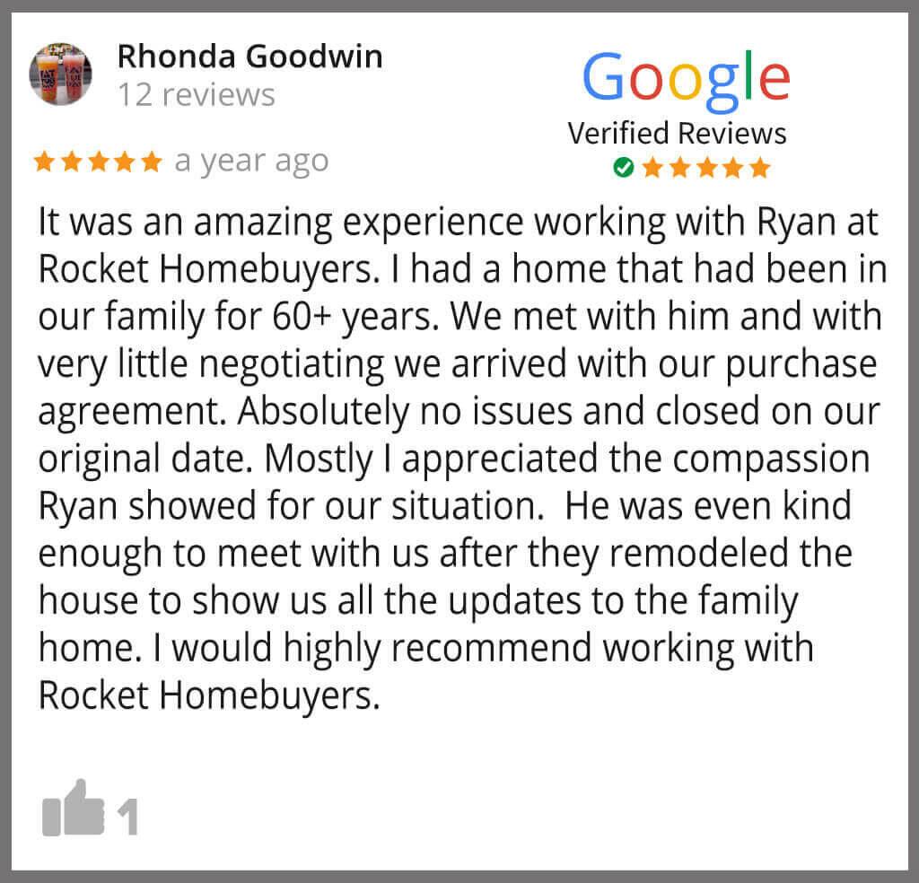 Rhonda Google Review