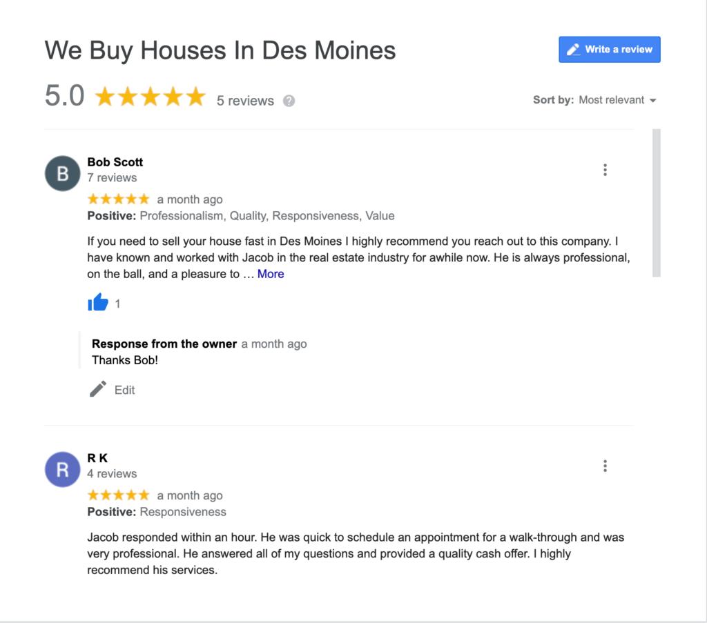 cash home buyers des moines