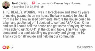 Jacob's We Buy Ugly Houses reviews for ASAP Cash Offer