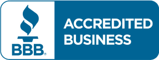 Better Business Bureau Logo proving we are accredited home buyers with Massachusetts A plus rating
